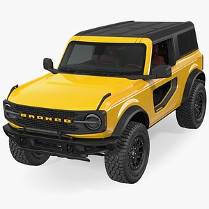 3D Ford Bronco 2021 Two Door Rigged