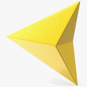 navigation arrow maps symbol 3D
