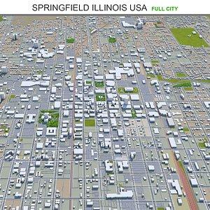 Springfield Illinois USA 3D