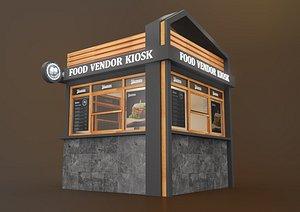 3D food vendor kiosk model