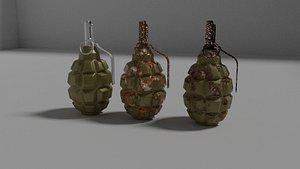 3D grenade f1 model