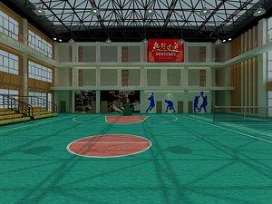 basketball court gymnasium 3D model