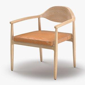 Arris Wood Chair 3D