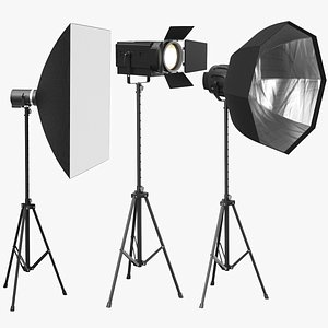 photo real photography lights 3D model