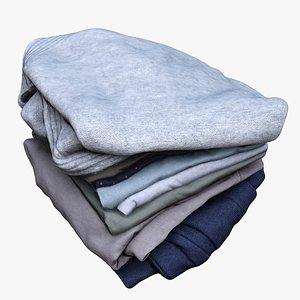 3D pile clothes model