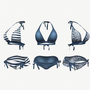 3D Blue Bikini Swimsuit - 3 colors model