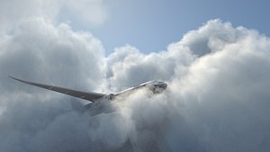 3D cloud  Aircraft