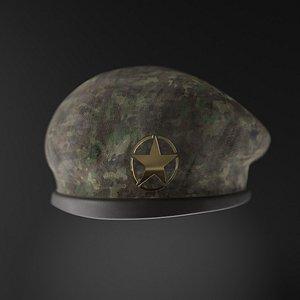 3D Military Beret Hat