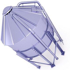 Grain Storage Silo 3D Model 16 3D