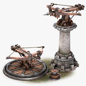 Ballista Tower Pack 3D model
