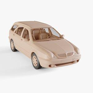 1999 Lancia Lybra Wagon 3D model