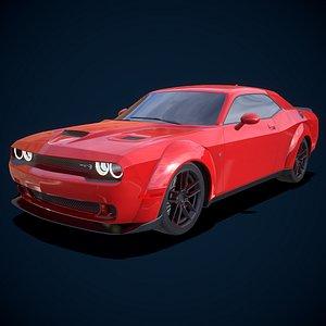 3D Dodge Challenger SRT Hellcat 2018