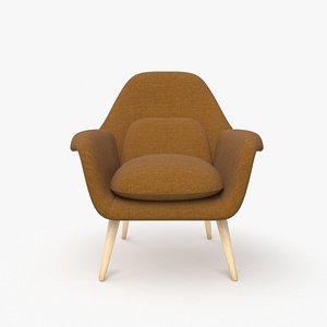 3D armchair chair design model