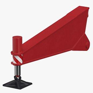 crane outrigger 01 red 3D