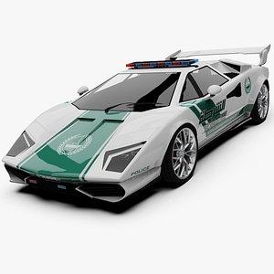Unity 3D Generic Dubai Police Car Cheetah 3D model