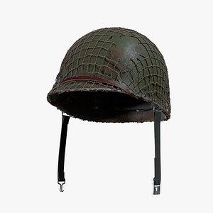 3D US WW2 M1HELMET model
