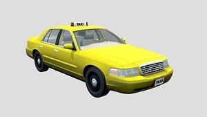 3D yellow cab taxi