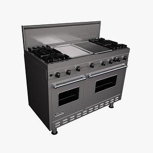 3D stove viking