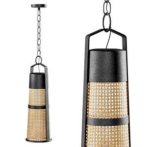 lamp rattan 3D