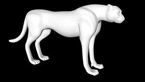 cheetah animal 3D
