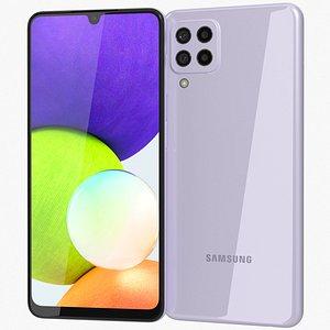 3D Samsung Galaxy A22 4G Violet