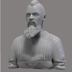 3D model bjorn bust