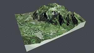 3D Cityscape  Balzers Liechtenstein