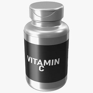 3D model Vitamin C Jar