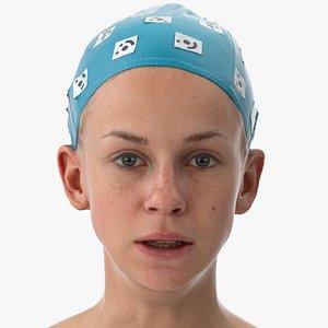 rhea human head lip 3D model