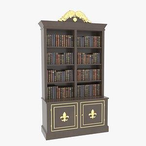 Bookcase Small Brawn 3D model