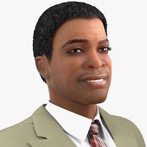 light skin black man 3D model