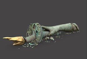 broken statue liberty hand 3D model