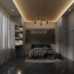 mysteries bedroom interior - 3D model