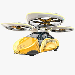 3D sci-fi taxi individual model