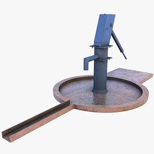 Vintage Hand Water Pump - LowPoly GameAsset 3D model