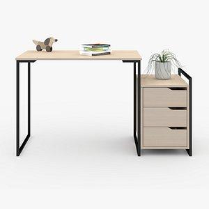 Desk in home D6 3D model