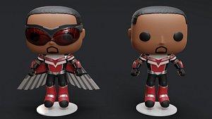 3D Funko Marvel's Falcon