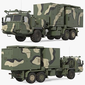 Multi Function Mobile Tracking Radar Vityaz 50R6 Camo 3D