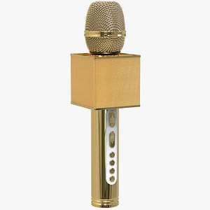 3D Gold Microphone model