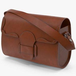 3D Leather Bag 3 model