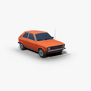 3D Audi 50 GL 1974 model