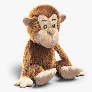 3D plush monkey