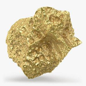 Gold Nugget 05 3D model