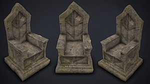 celtic stone throne - 3D