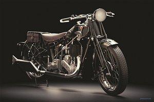 3D model vintage motorcycle cafe