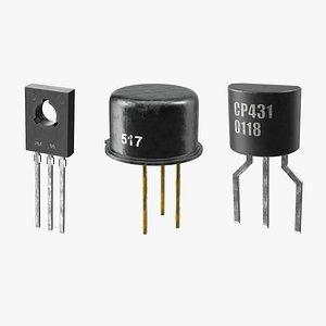 3D transistors npn silicon