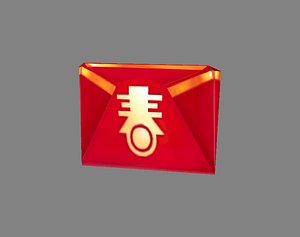 Cartoon chinese new year red envelope 3D