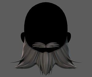 3D hair hairstyle beard model