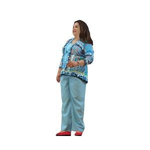 3D female standing