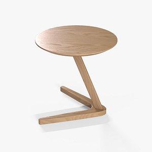 3D Healey End Table oak finish model